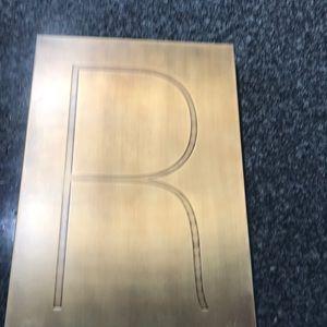 """BRASS LETTER WALL ART """"R"""""""